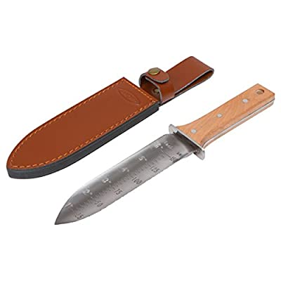 Hori Hori Garden Knife with Diamond Sharpening Rod, Thickest Leather Sheath and Extra Sharp Blade - in Gift Box. This Hori Hori Knife Makes a Great Gardening Gift. : Garden & Outdoor