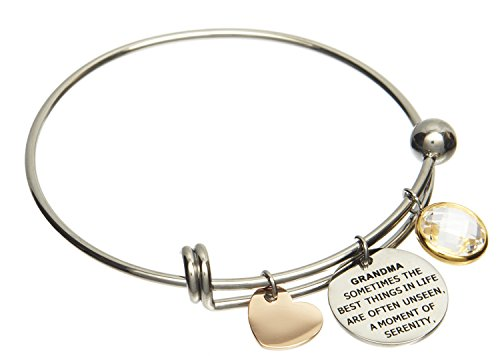 Jewelry Nexus Grandma Love Heart Charm Bracelet A Moment of Serenity and security by (Special Heart Charm Grandma)