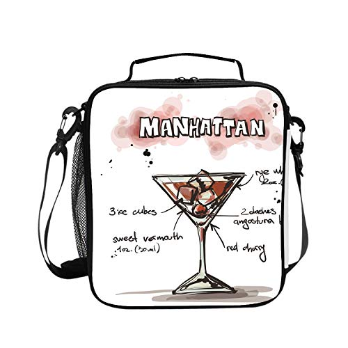 Manhattan Cocktail Cooler Bag Outdoor Insulated Picnic Bag for Camping, Sports, Beach, Travel