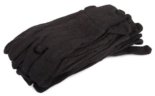 (Forney 53300 Brown Jersey Unisex Gloves, Large/X-Large, 6-Pack )
