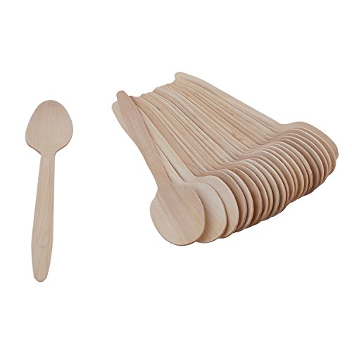 "Disposable Wooden Spoon 16 Cms/6.4″ Inch Length : Suitable for Lunch Dinner Snacks"" Pack of 75 for Functions,Parties,Wedding, Birthdays, Travel, Get Together's Price & Reviews"