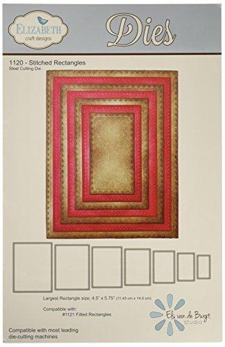 Lage Design Stoelen.Amazon Com Elizabeth Craft Designs Stitched Rectangles Metal Die
