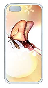 Butterfly Love TPU White customized iphone 5S case for Apple iPhone 5/5S