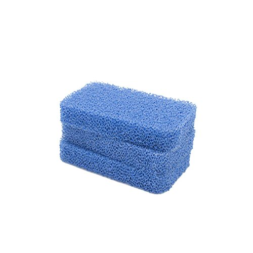 Sinkology SSCRUB-101-3 Breeze Non-Scratch and Odor Resistant Silicone Scrubber Package of 3 Sponges, Blue 3 Piece
