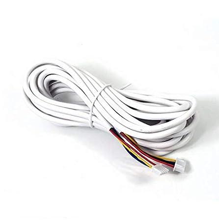 Selecci/ón 30 metros 25m 30m 20m Nudito Cable de 5 hilos compatible con Nudito Videoportero 15m Cable el/éctrico multipolar de 10m 5 x 2.0 mm/² Cable Redondo Alambres el/éctricos para Casa