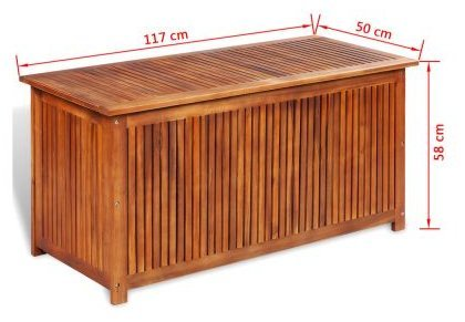 SKB Family Box Storage Deck Acacia Wood Outdoor Patio Bench Garden Pool Container Bin Seat Furniture Chest Weather by SKB family (Image #3)