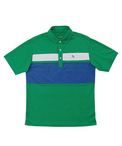 アーノルドパーマー メンズ ゴルフ ポロシャツ 半袖 パネル切り替え半袖ポロ AP220101H10 GN/WT/BL XO