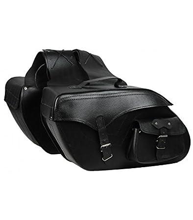 Alforjas laterales de cuero para moto