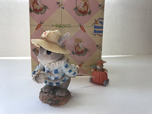 My Blushing Bunnies Wherever we Go Bunny in Scarecrow Costume Figurine