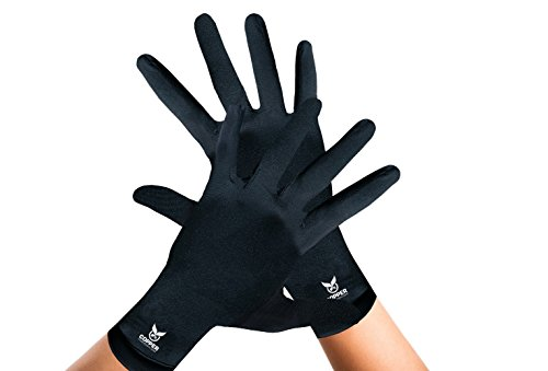 Arthritis Gloves By Copper Compression Gear (Full Finger) 100% GUARANTEED - Relieve Symptoms of Arthritis, RSI, Carpal Tunnel, Swollen Hands, Tendonitis & More! (Pair of Gloves) ()