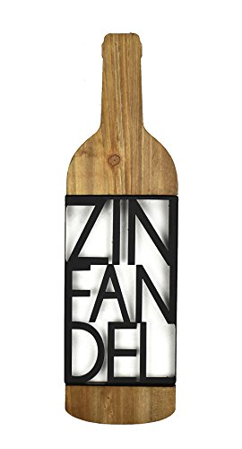 Fetco Home Décor Tinley Zinfandel Sign Wall Art, Light Wood with Black