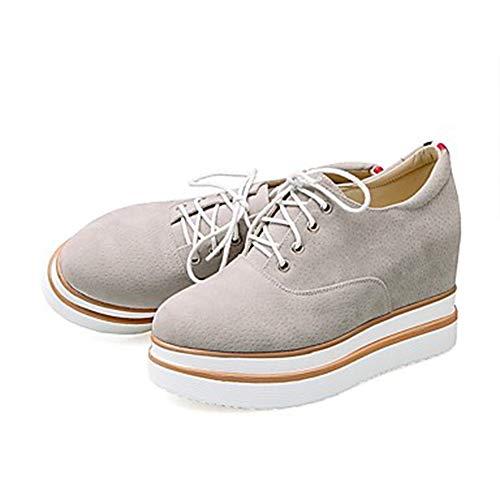 Printemps Gris Été Basket Gray Noir UK4 Chaussures US6 CN36 Polyuréthane Confort TTSHOES Plat Talon Femme EU36 IAvIt