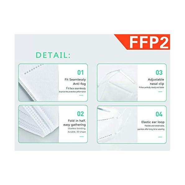 GIMA-FFP2-Effective-Filtrierende-Maske-6-Lagen-ergonomisch-und-faltbar-Staubabdichtung-PSA-der-Klasse-III-ItaSchweGriRumArab-20-Stcken-4-Beutel-mit-5-Masken
