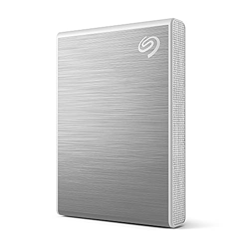 Seagate One Touch SSD 2 TB externe draagbare SSD – Zilver, 1030 MB/s, Android-app, 1 Jaat Mylio Create-plan, 4 Maanden…