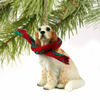English Setter Miniature Dog Ornament - Orange - Dog Figurine English Setter