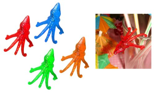 Octopus Cocktail Markers - Plastic Drink Decor - Case of 1000 by T. Z. (Image #1)