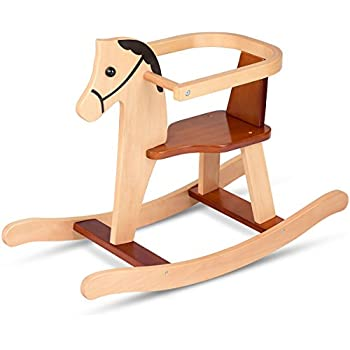 Costzon Wood Rocking Horse, Rock And Ride Chair For Baby Toddler Nursery  Room, Cute