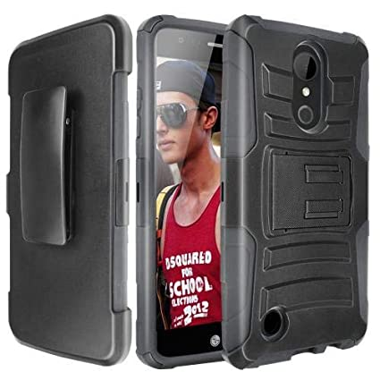 Lg Aristo 2 X210 Tribute Dynasty Holster Case Redshield Black Supreme Protection Hard Plastic On Silicone Skin Dual Layer Hybrid Ca
