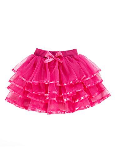 (iChunhua Girls Pleated Tutu Skirt for Toddler Christmas Halloween Pettiskirt Costume Hot)