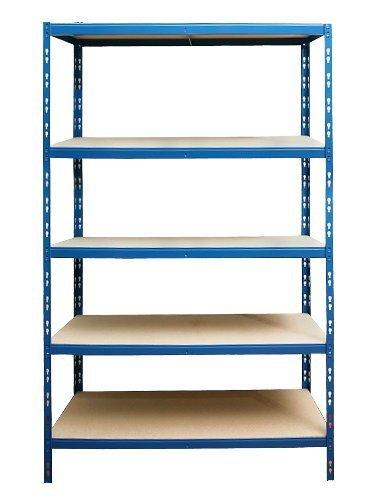 Steckregal Schwerlastregal Lagerregal Kellerregal Werkstattregal Regal 875kg - blau - Maß e (HxBxT): ca. 180 x 90 x 60 cm HolzSpielSpass 1809060175kg