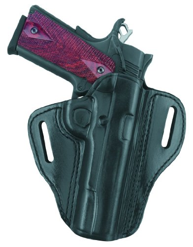 Gould & Goodrich B800-195LH Gold Line Open Top Two Slot Holster - Left Hand (Black) Fits most 1911-type pistols with 4.75 in. to 5.0 in. bbl incl. BROWNING Hi-Power; COLT Elite, Gold Cup, Gov't 1911A1; KIMBER Custom, Target, Gold Match, Royal; PARA-ORDNANCE P14 .45, P16 .40; SPRINGFIELD 1911A1; WILSON CQB