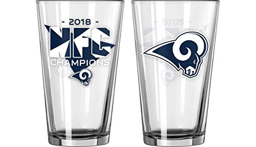 Boelter Los Angeles Rams 2018 NFC Champions Pint Glass