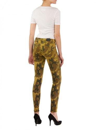 BLEULAB, camuflaje imprimir reversibles jeans ,para mujer Multicolor