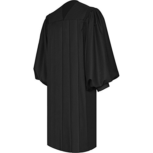 Leishungao Unisex Adults Fluted Deluxe Choir Robe for Churchgoer Black Height 5'9''-5'11'' -