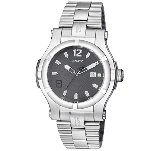 New Big Mens Renato T-Rex Swiss ETA 2824 Automatic 25 Jewel 50mm Gray Dial ()