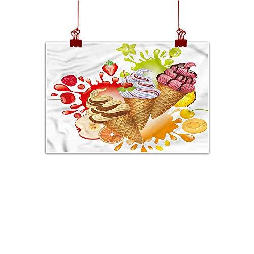 Mangooly Decorative Music Urban Graffiti Art Print Ice Cream,Fruity Sorbet 32
