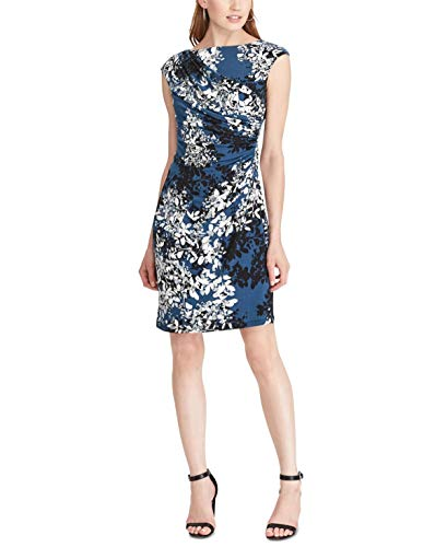 American Living Womens Floral-Print Jersey Dress Navy Multi, ()