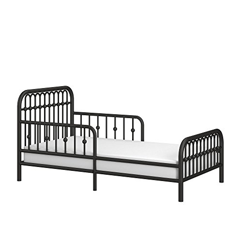 Little Seeds Piper Metal Toddler Bed, Black (Iron Furniture Bedroom White Wrought)