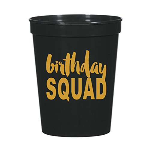 Birthday Squad Cups, Birthday Party Cups, Birthday Squad Party Decorations, My Squad, Birthday Party Decoration for Her, Squad - Happy Birthday Cups