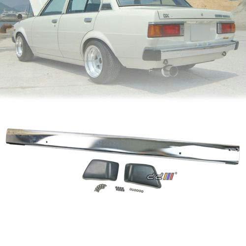 Rear Chrome Bumper+Corner Guard End Cap Fit For Toyota Corolla KE70 TE71 79-83