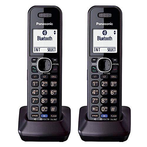 Dect Phone System - Panasonic KX-TGA950 Dect 6.0 Plus 2-Line Caller ID Call Block 3-Way Conferencing Landline Cordless Accessory Handset for KX-TGXXXX Series Phones (2-Pack)