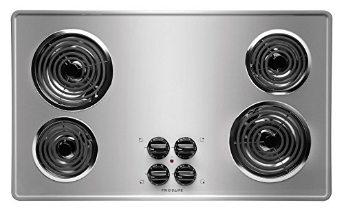 """Frigidaire Stainless Steel 36"""" 36 Inch Coil Top Electric Cooktop Stovetop FFEC3605LS"""