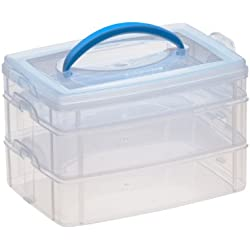 Snapware Snap 'N Stack 3-Layer Home Storage Container (6-Inches by 9-Inches)