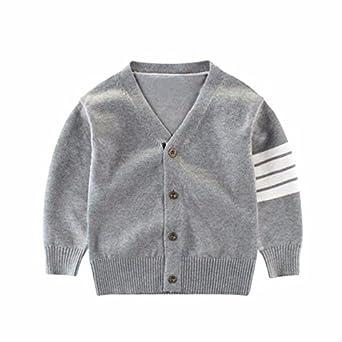 415f4983905e8 Burning Go 子供服 カーディガン 男の子 セーター ボーイズ vネック キッズ アウター ベビー ユニセックス 前