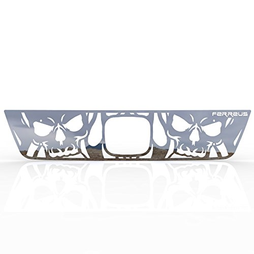 Ferreus Industries Grille Insert Guard Skull Flame Polished Stainless fits: 2003-2006 Honda Element TRK-140-10-Chrome-a