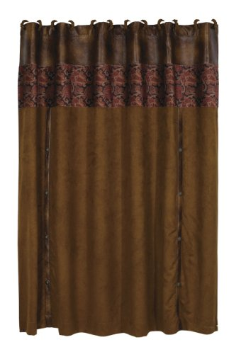 - HiEnd Accents Austin Western Shower Curtain