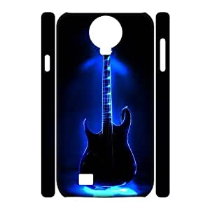 3D Samsung Galaxy S4 Case Blue Flaming Guitar, Young Flaming Guitar Jumphigh, {White}