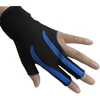 jiele - Guante elástico de Licra para 3 Dedos y Guante de Billar para Hombre y Mujer, elástico, con Tres Dedos