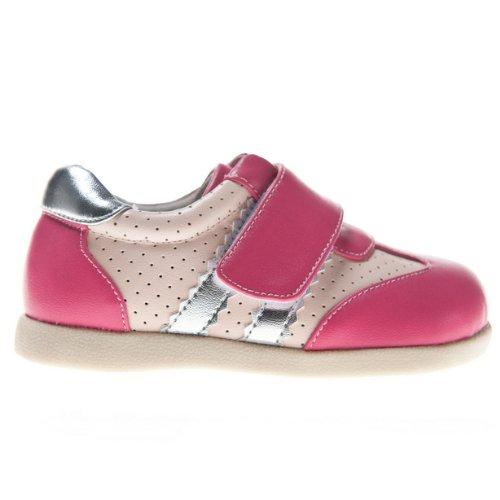 HLT Toddler/Little Kid Girl Quick Hook&Loop Strap Pink Sport/Uniform Shoe [US 10 / EU 27]