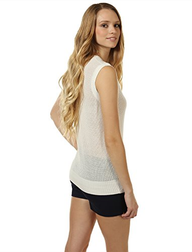 Mossimo Women's Open-Knit Sweater Vest M White by 7 Encounter (Image #3)