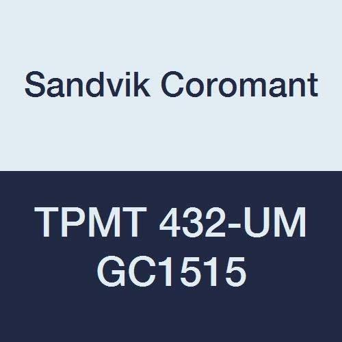 全品送料0円 Sandvik Coromant T-Max of U TPMT Carbide 10) Turning Insert TPMT Triangle UM Chipbreaker GC1515 Grade Multi-Layer Coating TPMT 432-UM 1/2 iC 0.0315 Corner Radius (Pack of 10) [並行輸入品] B07N85PKT1, CRISPIN(クリスピン):09f0e219 --- a0267596.xsph.ru