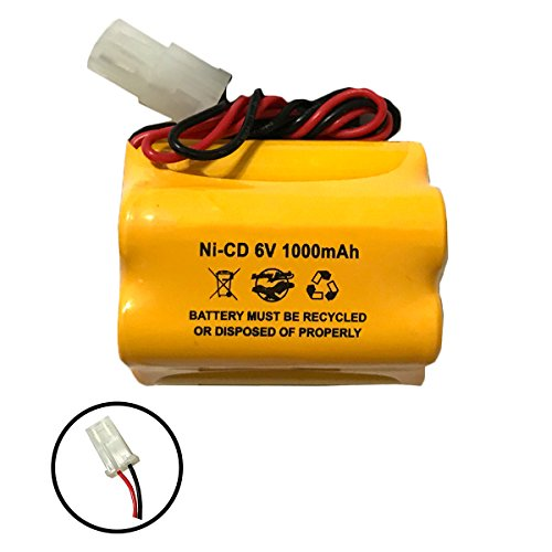 - Aritech 10050205 60401005 Lithonia ENB-06006 ENB06006 Prescolite 6v 1000mAh Ni-CD Battery Pack Replacement for Exit Sign Emergency Light Sharp 51500RS CE140P E82082100