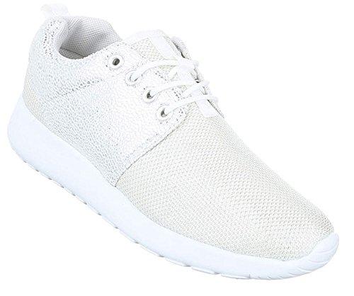 8ac77d7b24b637 Damen Freizeitschuhe Schuhe Sportschuhe Turnschuhe Sneaker Laufschuhe  Schwarz Gold Silber Weiß 36 37 38 39 40