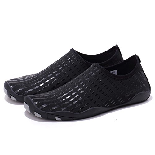 Schuhchan Aqua Shoes Women Surf Water Men Yoga Pool Beach Black for Quick Dry Sports Barefoot rBSrT