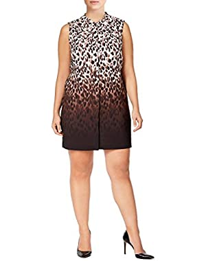 Calvin Klein Animal Print Ombre Shift Day Dress