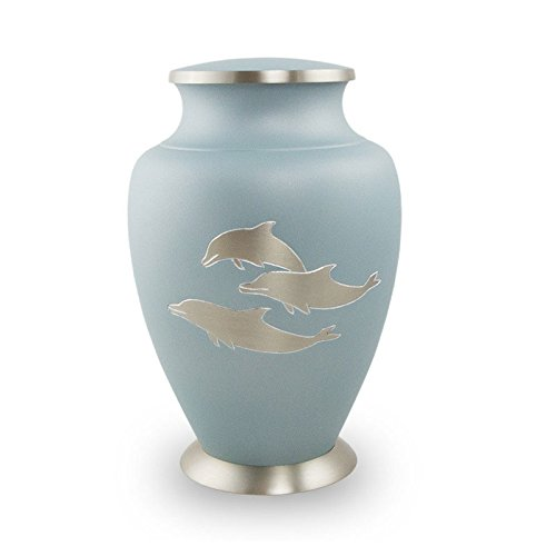 urns for ashes with dolphins - 1